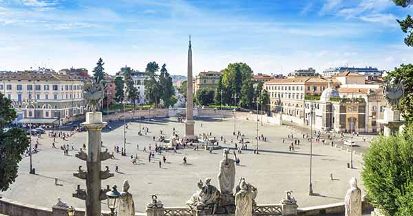 פיאצה דל פופולו - הכיכר הכי יפה ברומא - מה לעשות ברומא בחינם